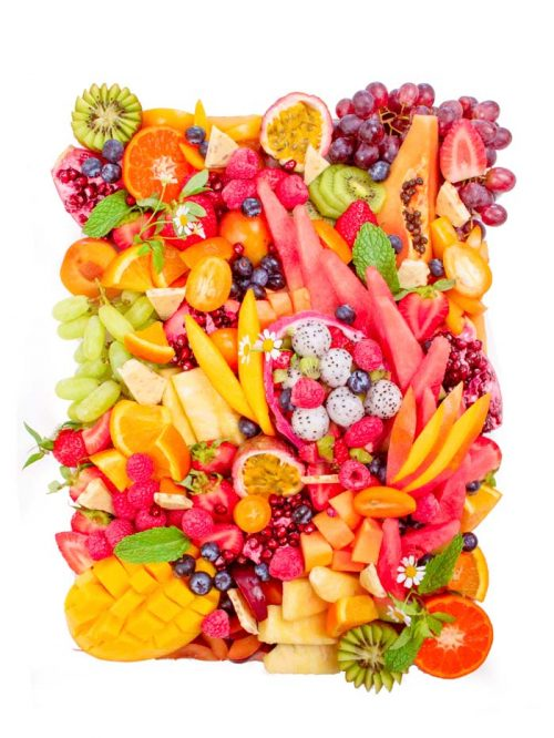 platter with fruits